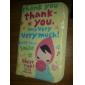 encantadora chica de dibujos animados con el caso de la tarjeta de crédito pañuelo (color al azar)