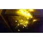 Decoração Festival 120-LED de 8 modos luz amarela Lâmpadas para Festa Cerca Jardim (220V)