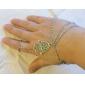 Feminino Pulseiras com Pendentes Pulseiras Anéis Personalizado Europeu bijuterias Inspirador Moda Liga Jóias Para Festa Diário Casual