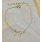женская корейский простой полый лук браслет b149
