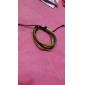 lureme®genuine кожа плетеные шнуры браслет (случайный цвет)