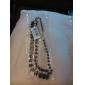 Женский Ожерелья-цепочки В форме квадрата Геометрической формы Синтетические драгоценные камни Резина Искусственный бриллиант Сплав