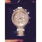 여성용 드레스 시계 석영 모조 다이아몬드 스테인레스 스틸 밴드 실버 골드 로즈 골드