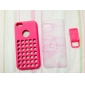 Solid Color Silicone Case with Holes in the Back for iPhone 5C (Assorted Colors)