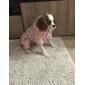 Собака Плащи Толстовки Одежда для собак Хлопок Зима В горошек Розовый Костюм Для домашних животных