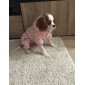 Dog Coat / Hoodie Pink Dog Clothes Winter Polka Dots