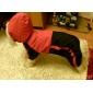 Chat Chien Imperméable Vêtements pour Chien Coupe-vent Etanche Couleur Pleine Rouge Vert
