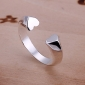 Simple Heart Design Adjustable Ring