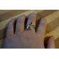 Ring Alphabet Shape Party / Daily / Casual Jewelry Alloy Women Band Rings7 Gold / Black / Silver