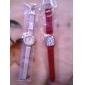 Женские Модные часы Кварцевый PU Группа Черный Красный Коричневый Зеленый Розовый