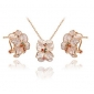 ROXI Exquisite  Rose-Golen Flower Jewelrys For Elegant Women Party  With Zircons, New Style,Best Christmas Gifts