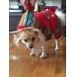 Cachorro Casacos Camisola com Capuz Roupas para Cães Mantenha Quente Natal Color Block Vermelho Verde Ocasiões Especiais Para animais de