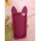 novo caso macio 3d orelhas de gato de silicone para iphone 5c (cores sortidas)