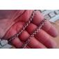 Long Polycyclic Men'S Titanium Steel Necklace
