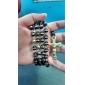 Mumar Brand New Золото и черный Мода Jewerlry нержавеющей стали и силикона ожерелье цепь цепь свитер