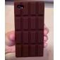 아이폰 4/4S를위한 초콜릿 실리콘 소프트 케이스
