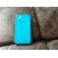Capinha Traseira de Silicone Ultrafina Transparente para iPhone 4/4S (cores sortidas)