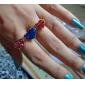 American Flag Union Jack Stars Love Bicyclic Ring