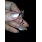 35MM Apple Pendant Shine Zircon Alloy Artificial Stone Anti-Dust Plug(Random Color)