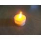 1pc Yellow LED Candle Light Night Light Party Supply (4.5x3.9x3.9cm)