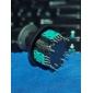 Substituição 3D vibratório Rocker Joystick Cap Shell Mushroom Caps para PS3 Wireless Controller (verde Chip)