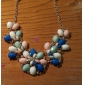 Eourpean Style Resin Flower Statement Necklace
