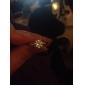 Ipomoea Silver Alloy Diamond Ring Temperament Ladies