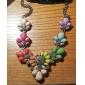 le style eourpean collier déclaration de fleur de résine