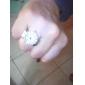 Жен. Часы-кольцо Модные часы Японский Кварцевый сплав Группа Блестящие Серебристый металл