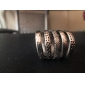 Vintage Alloy Multi-row Rings  (Assorted Colors)