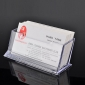 прозрачный пластик имя держателя карты случае держатель визитная карточка