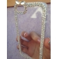 strass cristal de luxe diamant bling couverture rigide transparent clair de cas pour l'iphone 5 / 5s