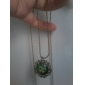 Women's Vintage Alice in Wonderland Cat Mouse Cat Sweater Chain Necklace N65