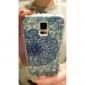 fleurs de zircon motif en relief au dos du boîtier pour les i9600 Samsung Galaxy S