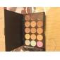 15 цветов 3in1 профессиональный камуфляж природного лица маскирующее / фундамент / бронзатор косметическая палитра