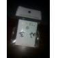 Korean jewelry silver stud earrings YOU ME letters E817