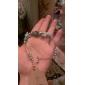 Femme Chaînes & Bracelets Charmes pour Bracelets Original bijoux de fantaisie Personnalisé Strass Turquoise Alliage Forme de Cercle Forme