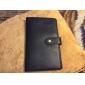 300 Slots Preto PU capa de couro de negócios titular do cartão