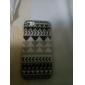 Motif gris rayé noir ABS arrière pour l'iPhone 5/5S