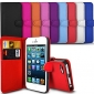 Elegant PU Leather Case for iPhone 4/4S Flip Stand Design Back Cover Wallet with Card Slot