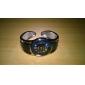 Femme Montre Tendance Bracelet de Montre Quartz Alliage Bande Rigide Elégant Bleu