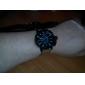 JUBAOLI 남성 밀리터리 시계 손목 시계 석영 가죽 밴드 카키