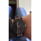 Men's Simple Black Dial Stripe Fabric Band Quartz Wrist Watch (Assorted Colors) Cool Watch Unique Watch Fashion Watch