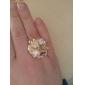 미스 한 유대 진주 장미 반지 (무작위 색깔)