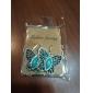 lureme®turquoise и горный хрусталь серьги бабочки