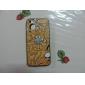 Homem Scared no mundo Padrão PC Hard Case 'Worms com moldura preta para iPhone 5/5S