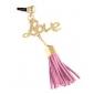 Amour alliage chaîne de laine Tassel bouchon anti-poussière (couleur aléatoire)