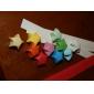 2 x 90 τεμ χρώμα φθορισμού origami τυχερό αστέρι υλικά (τυχαία χρώμα)