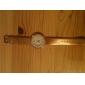 여성용 골드 크리스탈 케이스 PU 밴드 콰츠 손목시계 (다양한 색상)