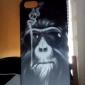 Coque pour iPhone 5/5S, Motif Gorille qui Fume